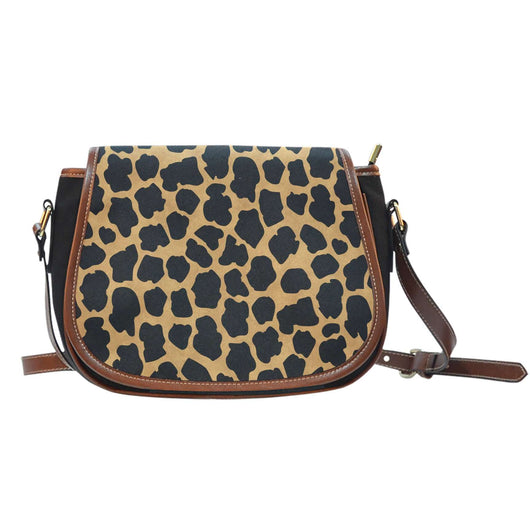 Animal Prints Cheetah 1 Crossbody Shoulder Canvas Leather Saddle Bag