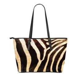 Animal Skin Texture Themed Design C7 Women Small Leather Tote Bag