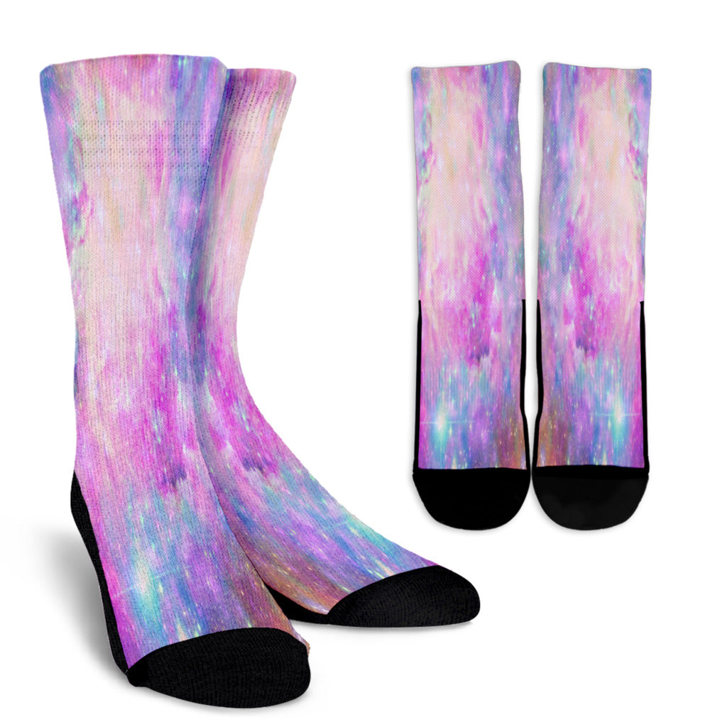 Galaxy Pastel 6 Crew Socks - STUDIO 11 COUTURE