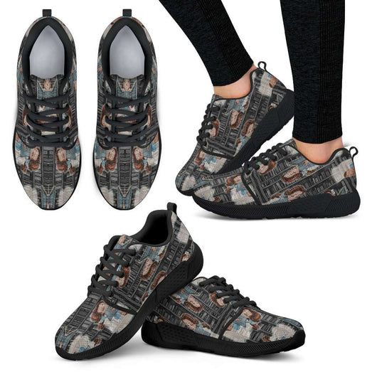 Beauty And The Beast Bell Womens Athletic Sneakers