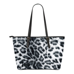 Animal Skin Texture Themed Design C14 Women Small Leather Tote Bag