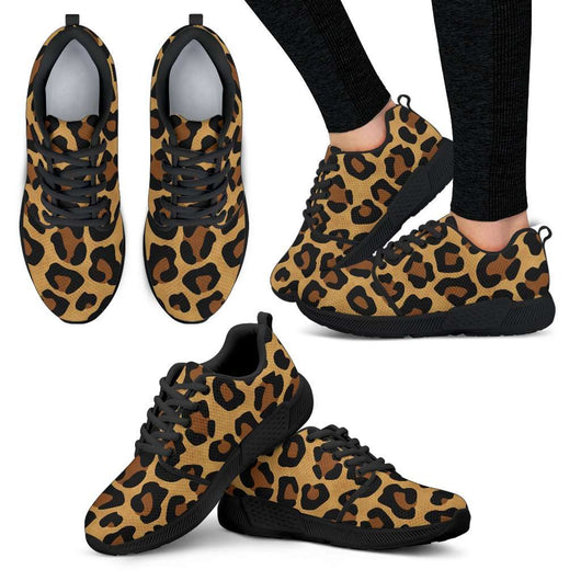 Leopard Skin Womens Athletic Sneakers - STUDIO 11 COUTURE
