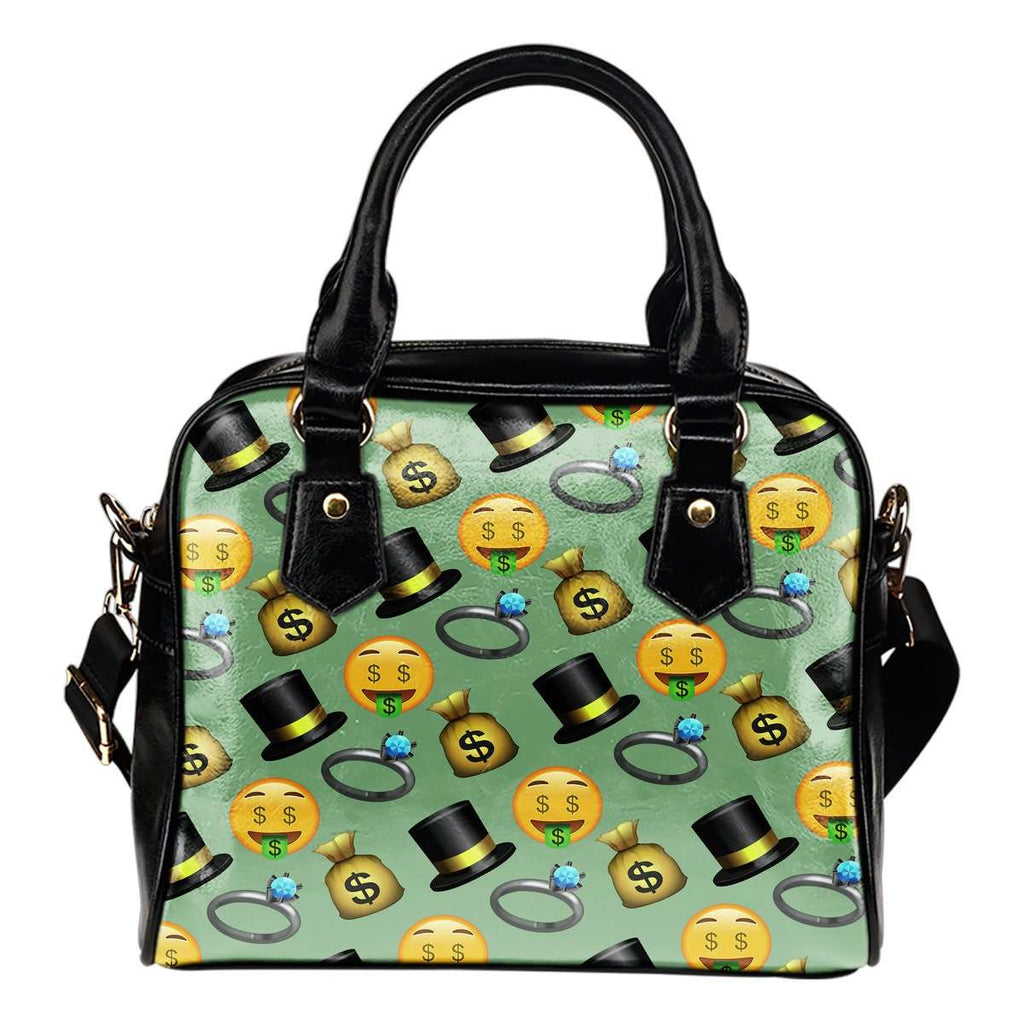 Fun Emojis Money Shoulder Handbag