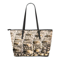 Animal Skin Texture Themed Design C2 Women Small Leather Tote Bag