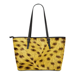 Animal Skin Texture Themed Design C1 Women Small Leather Tote Bag