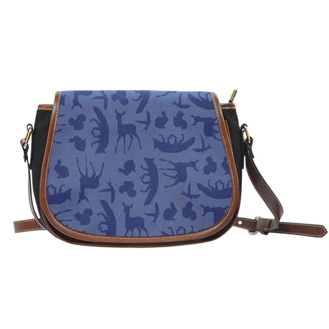 Snow White Wood Lands Creature Leather Saddle Bag