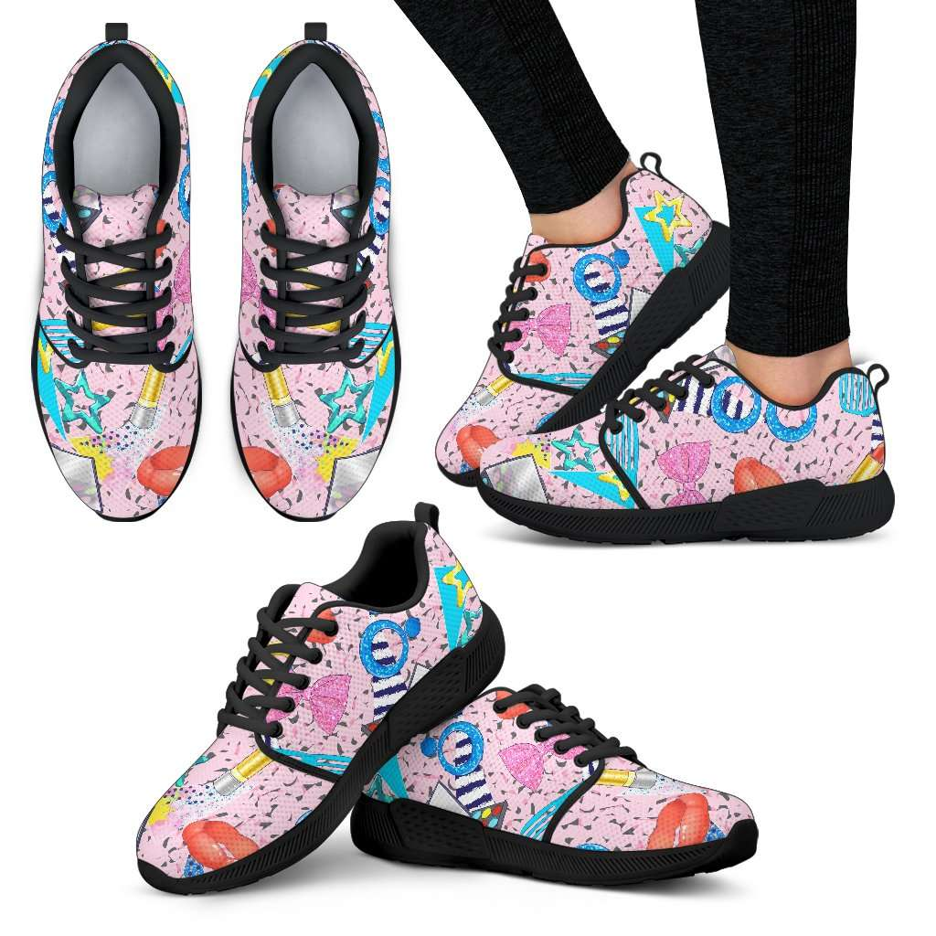 Fashion Make Up Womens Athletic Sneakers