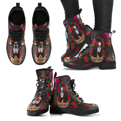 Sugar Skull Gothic Lolita Women Leather Boots