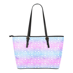 Unicorn Themed Design C3 Women Small Leather Tote Bag