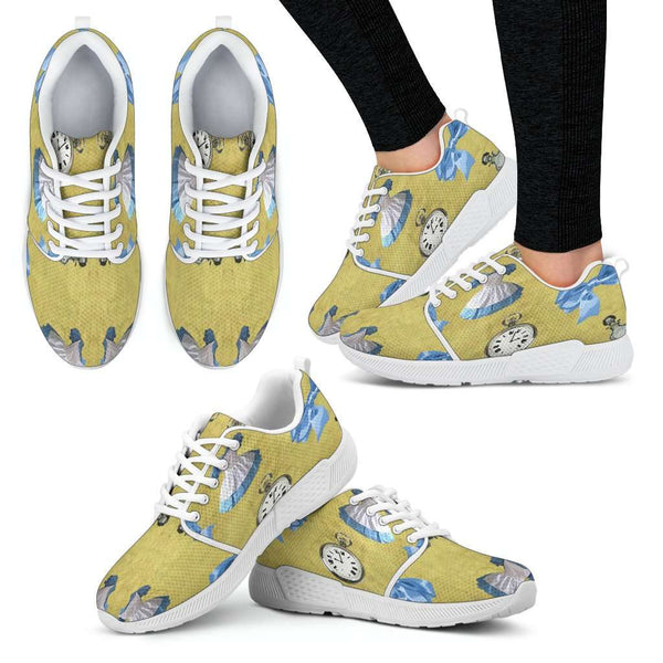 Alice In Wonderland Womens Athletic Sneakers