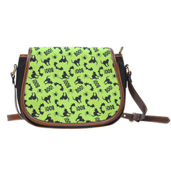 Trick or Treat (K6) Crossbody Shoulder Canvas Leather Saddle Bag