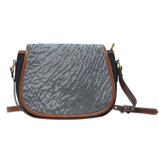 Animal Prints Rhino Elephant Crossbody Shoulder Canvas Leather Saddle Bag
