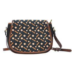 Trick or Treat (K9) Crossbody Shoulder Canvas Leather Saddle Bag - STUDIO 11 COUTURE