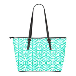 Woodland Themed Design C2 Women Small Leather Tote Bag