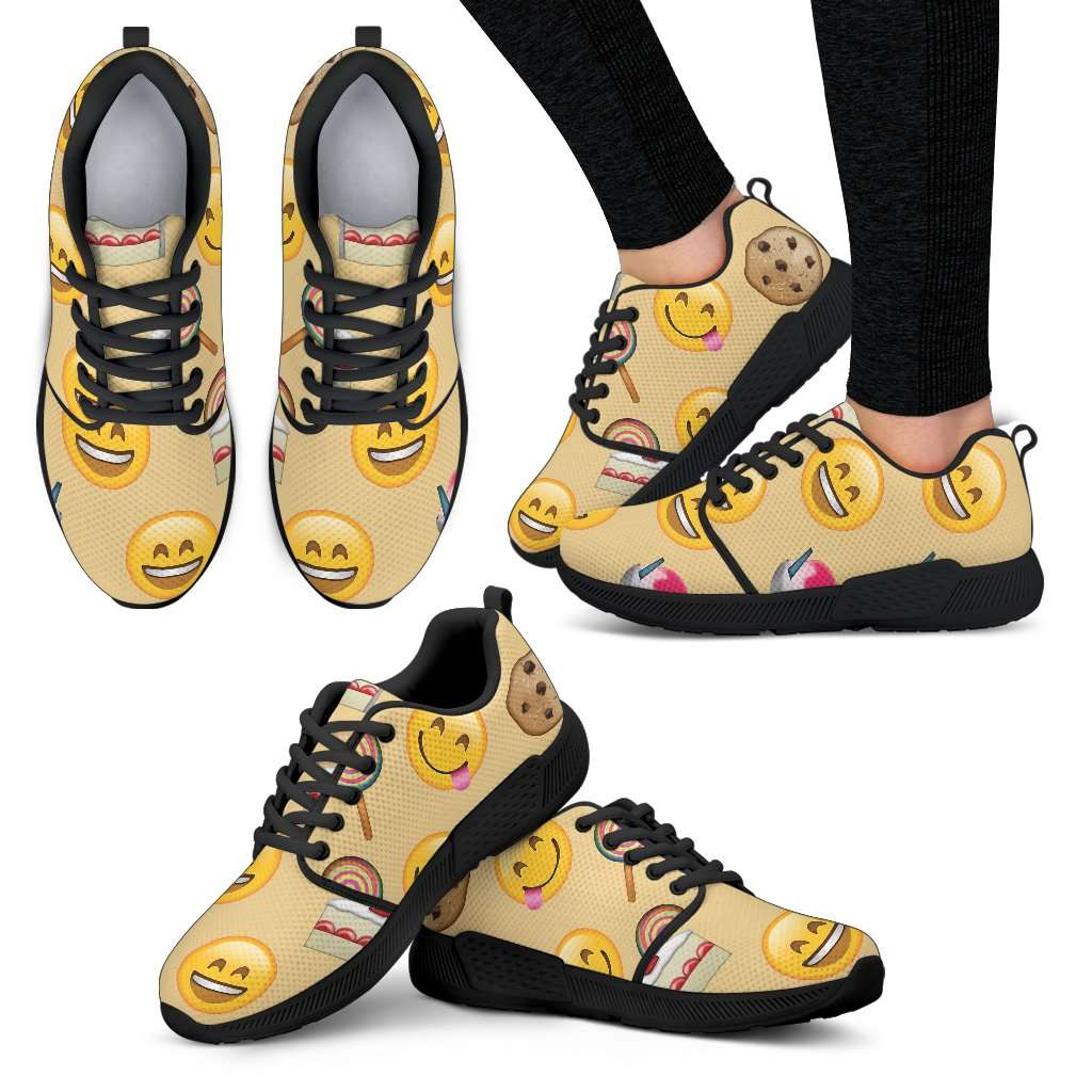 Emoji Sweets Womens Athletic Sneakers