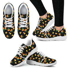 Candy Corn Halloween Women Athletic Sneakers