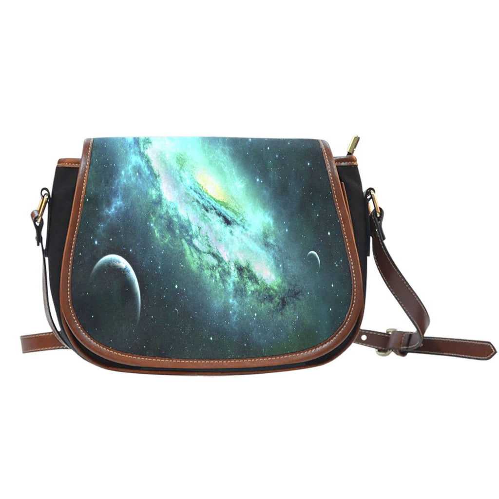 Galaxy 6 Crossbody Shoulder Canvas Leather Saddle Bag - STUDIO 11 COUTURE