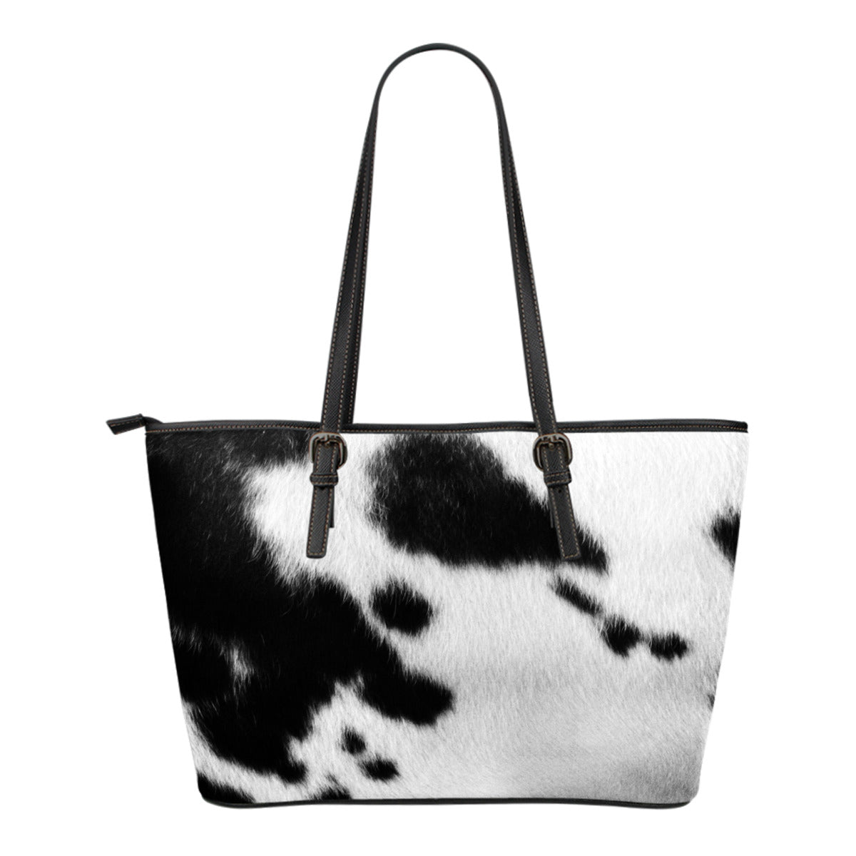 Animal Skin Texture Themed Design C5 Women Small Leather Tote Bag