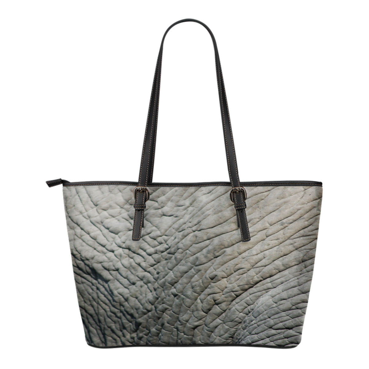 Animal Skin Texture Themed Design C8 Women Small Leather Tote Bag