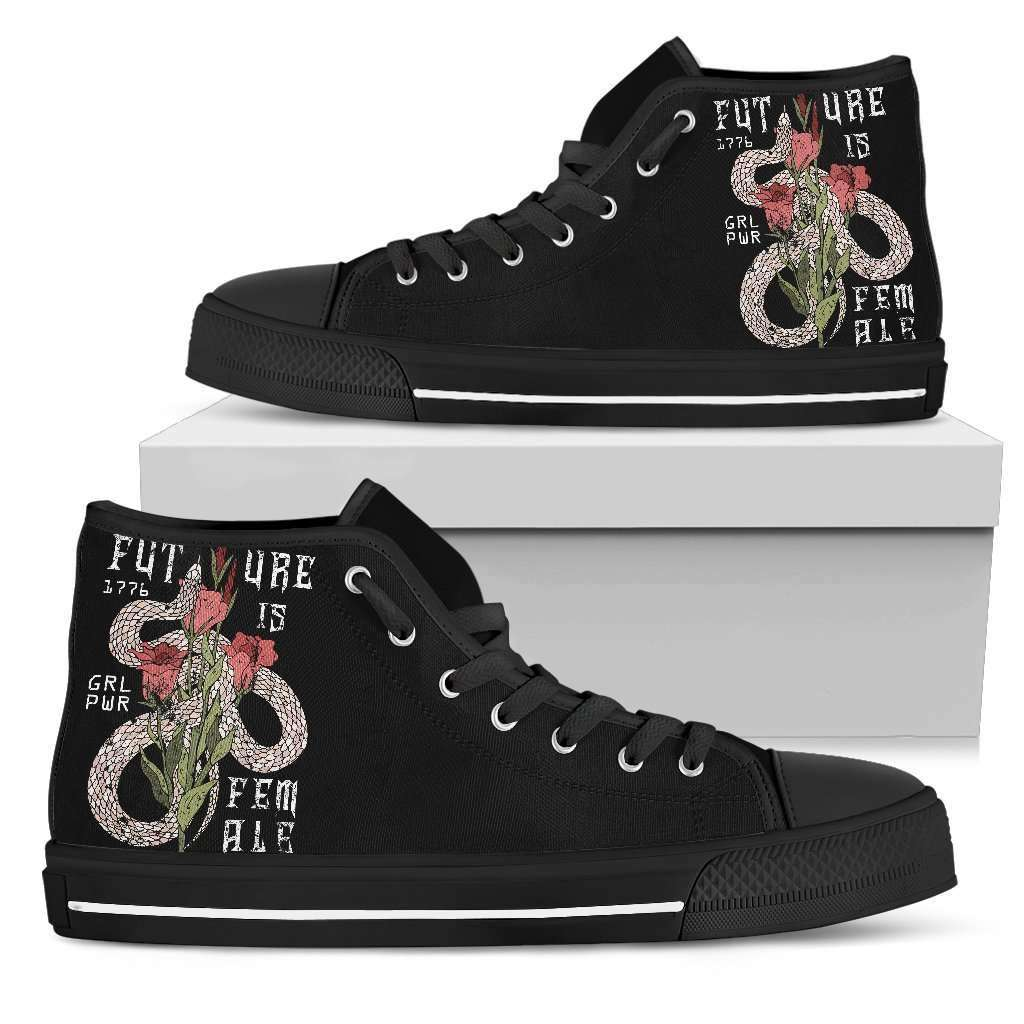Future Is Female Womens High Top Shoes - STUDIO 11 COUTURE
