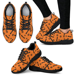 Black Candy Spooky Halloween Women Athletic Sneakers