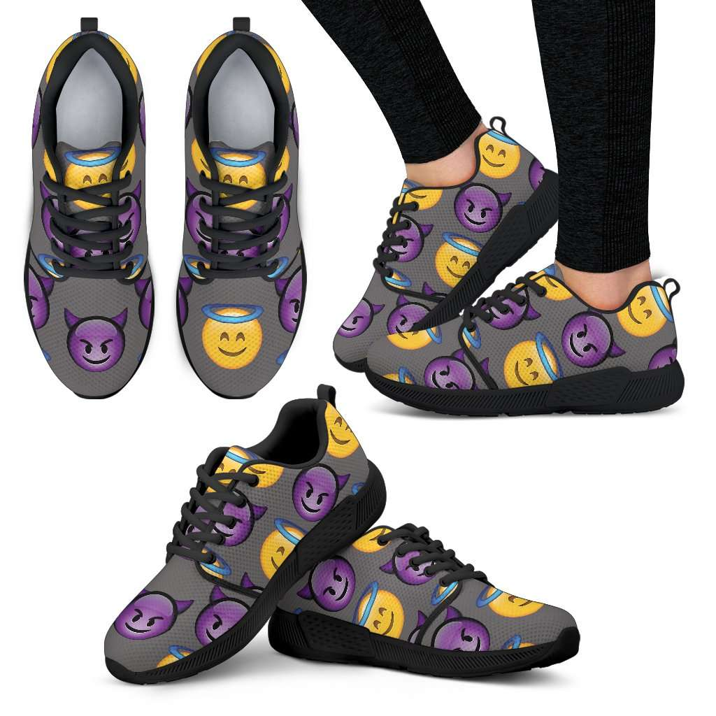 Emoji Good Vs Bad Womens Athletic Sneakers