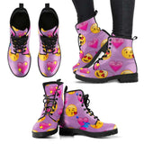 Emoji Love Womens Leather Boots