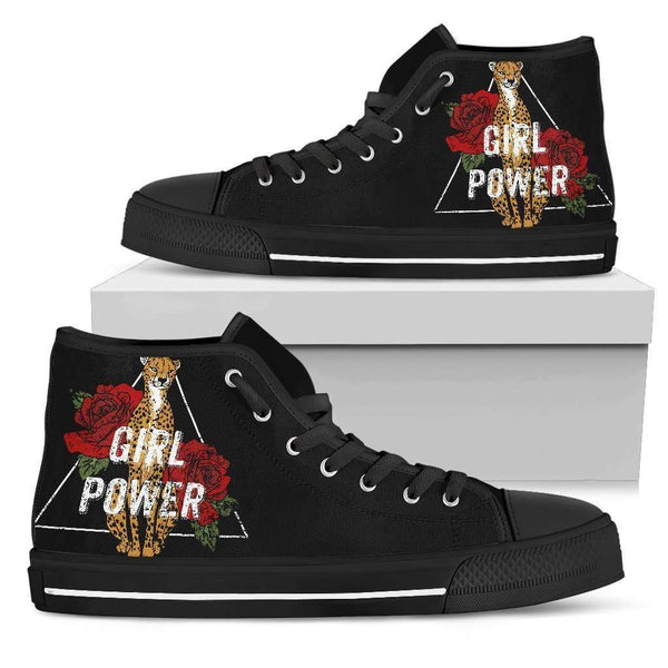 Girl Power Womens High Top Shoes - STUDIO 11 COUTURE