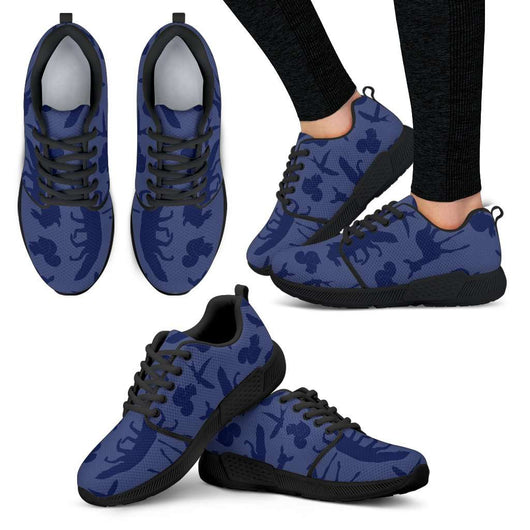 Woodland Creatures Purple Womens Athletic Sneakers - STUDIO 11 COUTURE