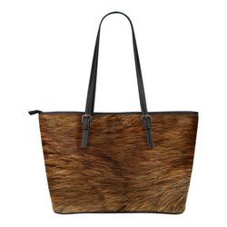 Animal Skin Texture Themed Design C12 Women Small Leather Tote Bag