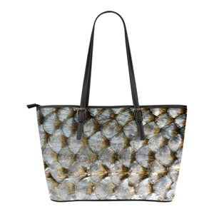 Animal Skin Texture Themed Design C3 Women Small Leather Tote Bag