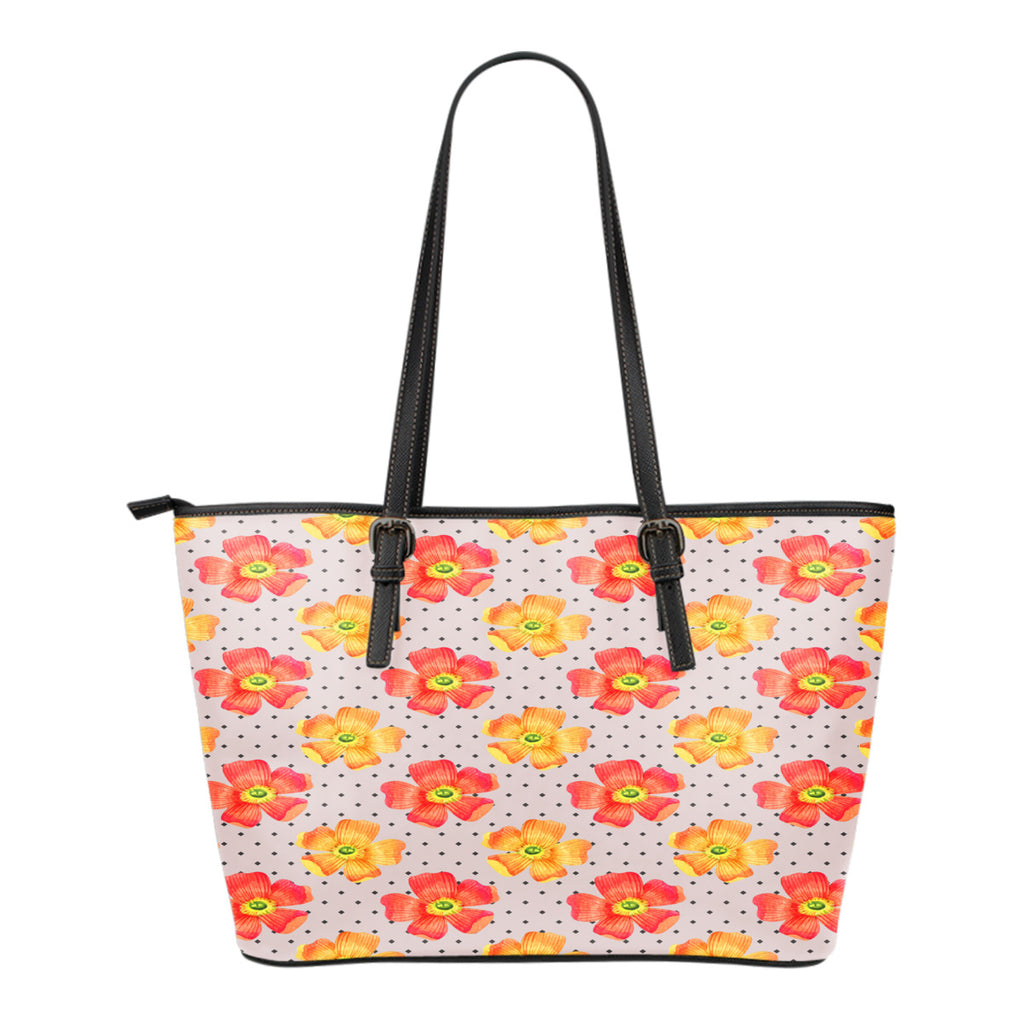 Floral Springs Themed Design C10 Women Large Leather Tote Bag