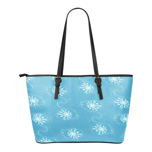 Frozen Themed Design C2 Women Small Leather Tote Bag