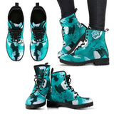 The Mad Hatter Womens Leather Boots - STUDIO 11 COUTURE
