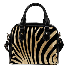 On Sale Vegan Leather Women bag purse Animal Prints Zebra Shoulder Handbag w/ organizer and removable and adjustable strap - STUDIO 11 COUTURE