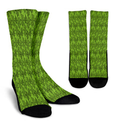 Green Spider Web Halloween Crew Socks - STUDIO 11 COUTURE