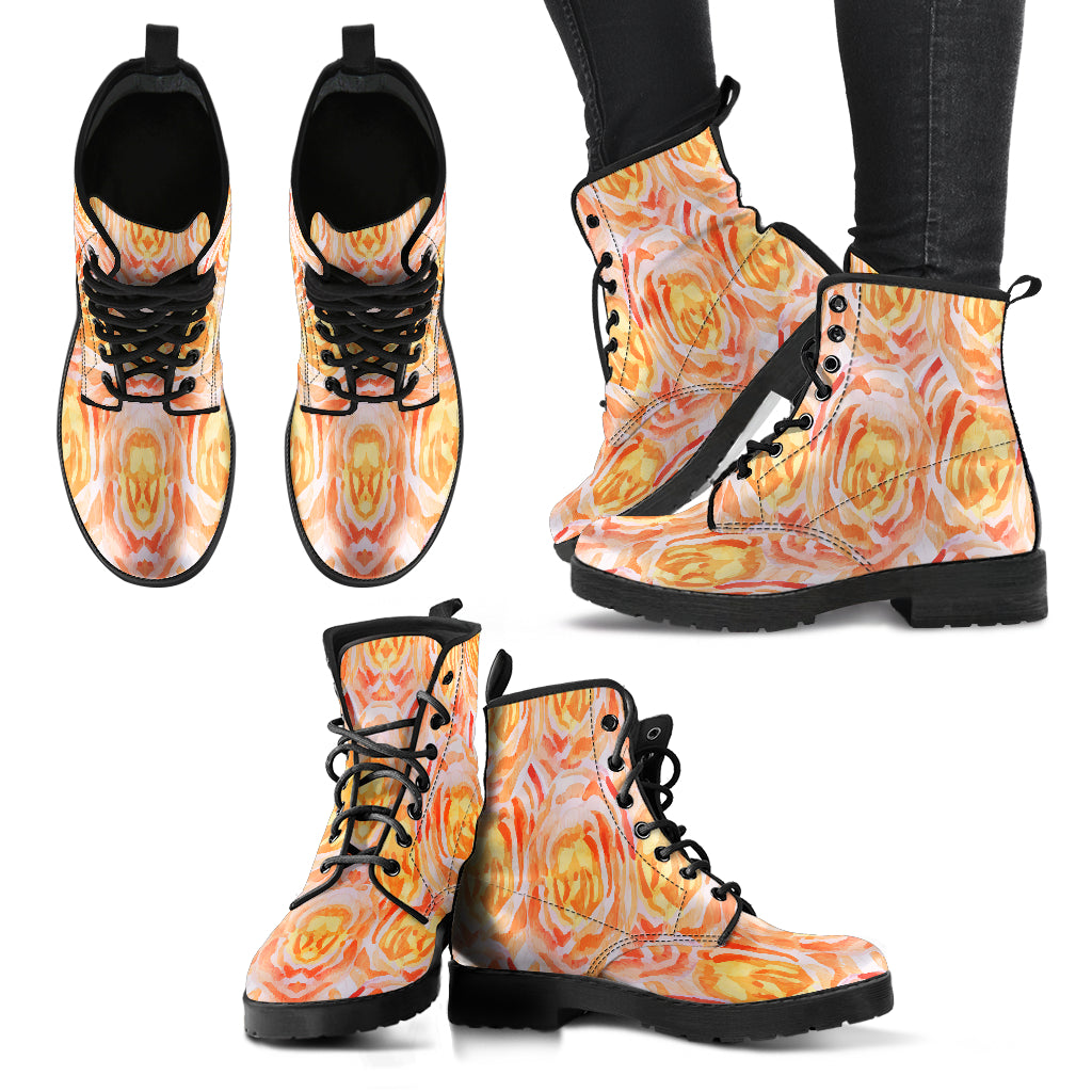 Admirable Floral Spring Women Leather Boots