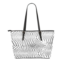 Animal Print BW Themed Design C5 Women Small Leather Tote Bag