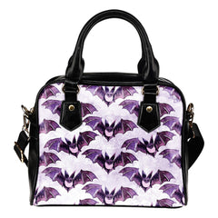 Witch Themed Design B15 Women Fashion Shoulder Handbag Black Vegan Faux Leather