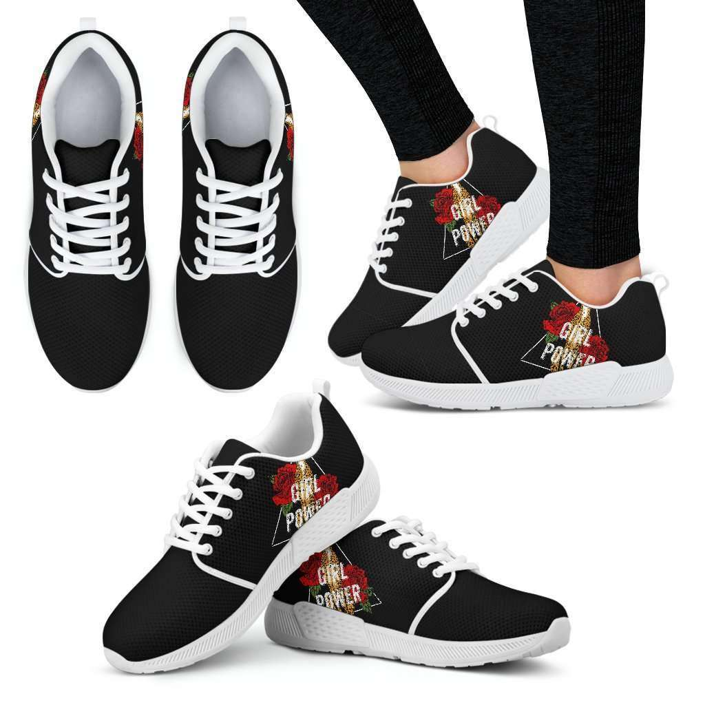 Girl Power Womens Athletic Sneakers - STUDIO 11 COUTURE