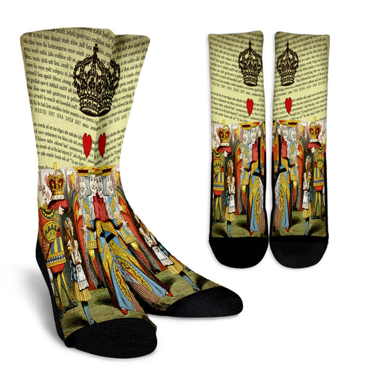 The King And The Queen Alice In Wonderland Crew Socks