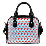 Betty Boop Themed Design B12 Women Fashion Shoulder Handbag Black Vegan Faux Leather