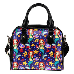 Mermaids Siren Under The Sea Shoulder Handbag