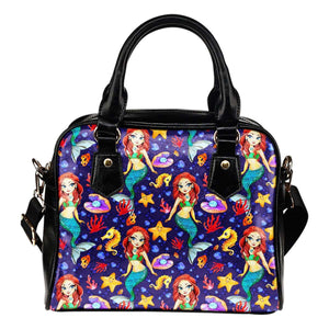 Mermaids Siren Under The Sea Shoulder Handbag - STUDIO 11 COUTURE