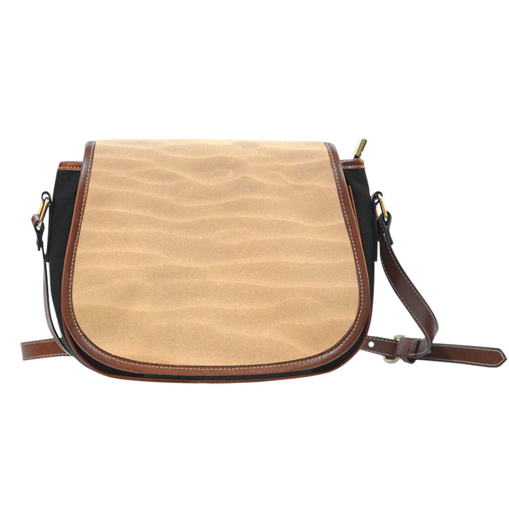 Nature Themed Design 3 Crossbody Shoulder Canvas Leather Saddle Bag