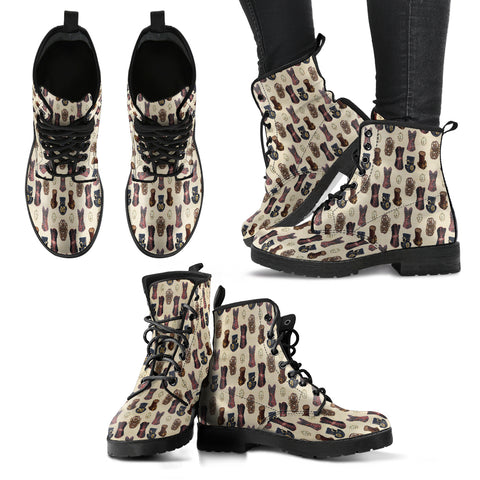 Mechanical Vintage Hat Steampunk Women Leather Boots