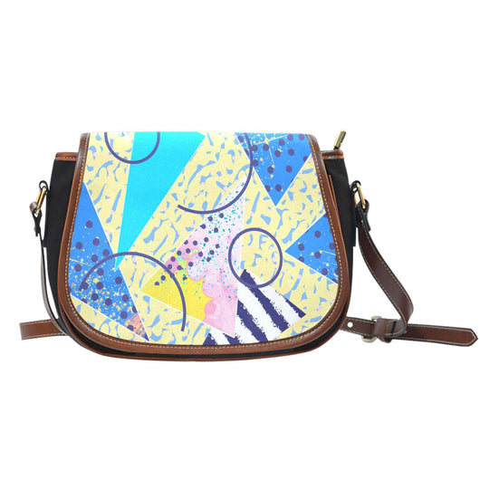 80's Fashion Design 5 Leather Saddle Bag - STUDIO 11 COUTURE