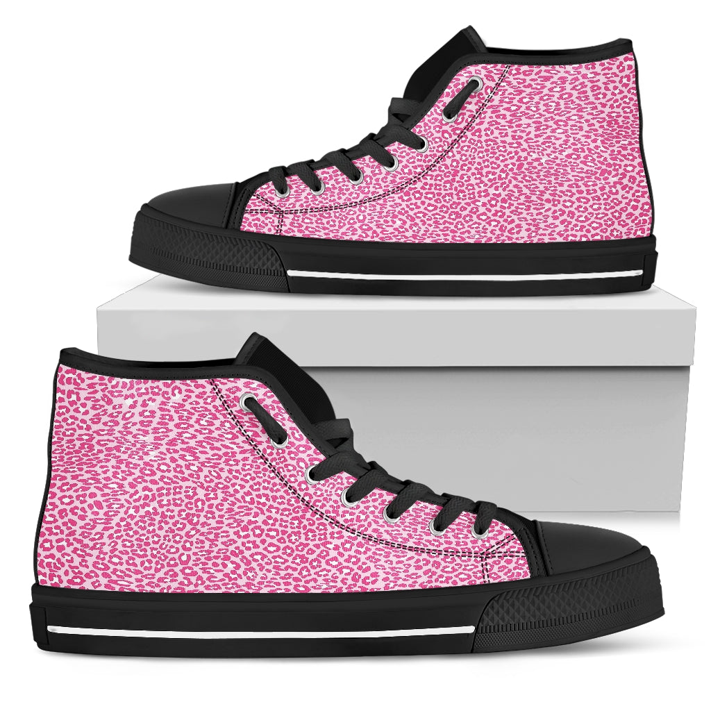 Leopard Print Women's High Top Shoes