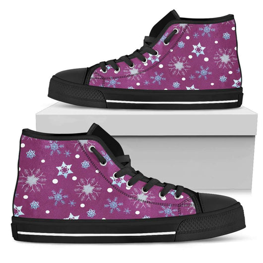 Frozen Snowing Womens High Top Shoes - STUDIO 11 COUTURE