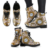 Pocket Watch Womens Leather Boots - STUDIO 11 COUTURE